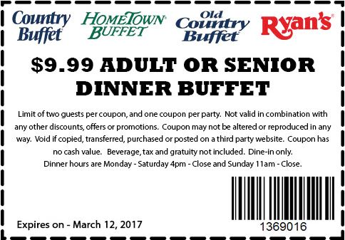 Hometown Buffet Coupons