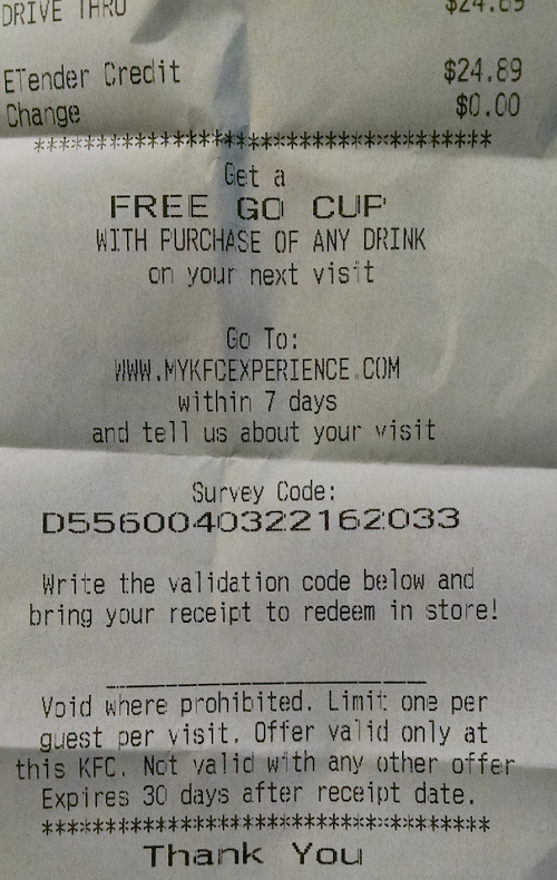 kfc coupons for free go cup