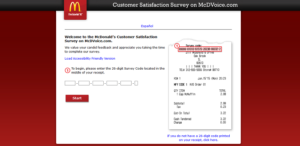 www mcdvoice com survey