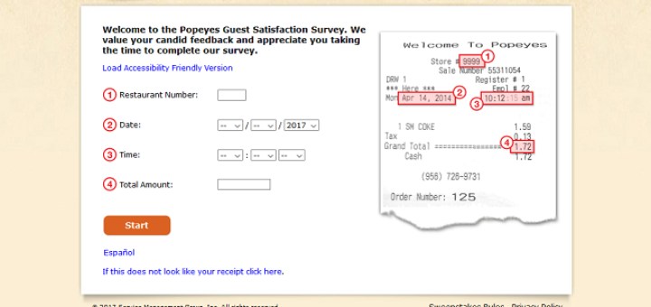 www tellpopeyes com customer satisfaction survey