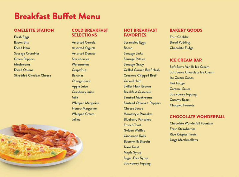 Golden Corral Breakfast Menu Prices